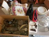 Vintage Bottles, Dishes, Figure, Shoes, Rugs