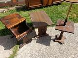 Dark Wood Side Tables and Lamp Table