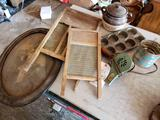 Washboards, Muffin Tin, Dryer, Sifter, Frame