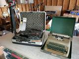 Smith-Corona Typewriter, Panasonic Camcorder. Tri-Pod