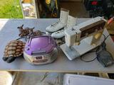 Sewing Machine, Skates, Radio, Decor