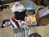 Quilts, Linens, Blankets, Pants, Hangers, Towels