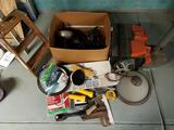 Worker's Items, Power Tools, Stepladder, Plastic Sheeting