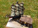 Wooden Model Ship - Wooden Treasure Chest