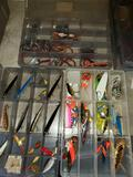 Three Boxes Fishing Lures and Worms