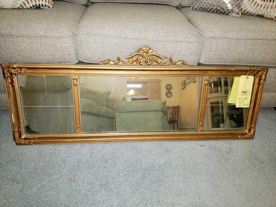 Beveled Gold Gilded Mirror