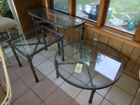 3-Piece Wrought-Iron Patio Table Set