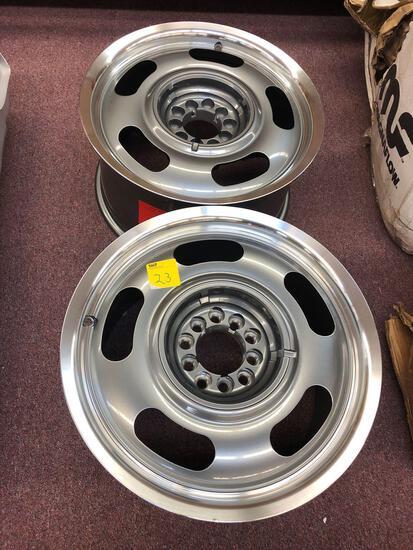 Set of Chevy Aluminum Wheels