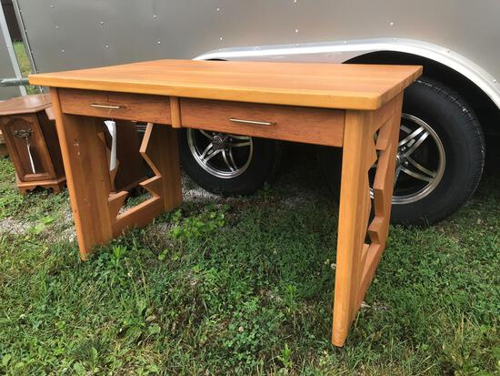 Two-drawer southwest style desk