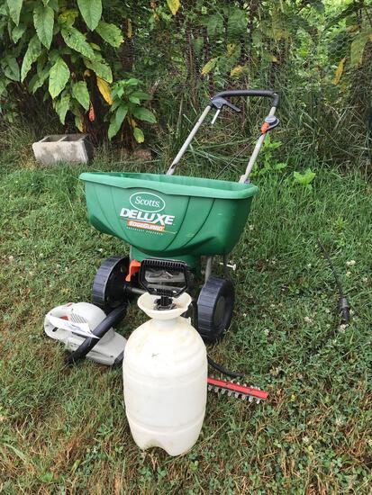 Scotts Deluxe spreader - sprayer - hedge trimmer