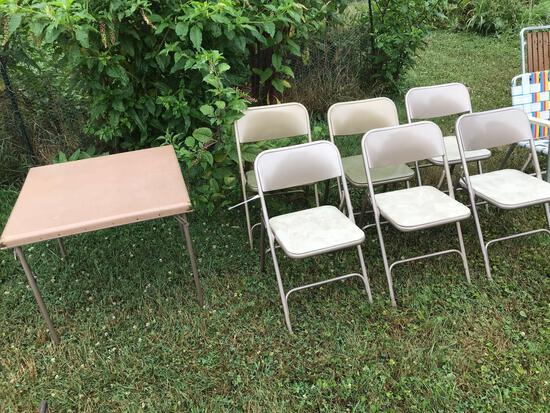 Card table - 6 chairs