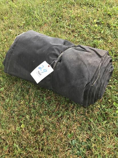 Netted black truck tarp