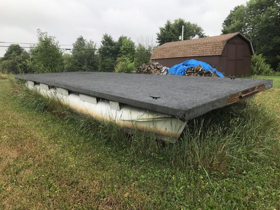 25.6'x 8.2' floating pontoon dock
