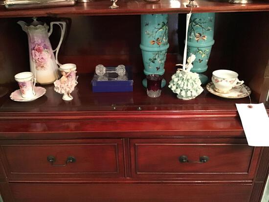 RS Prussia tea set, Sandizell, figurines And floral vases
