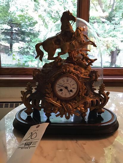 American Buyers Union metal cased mantle clock