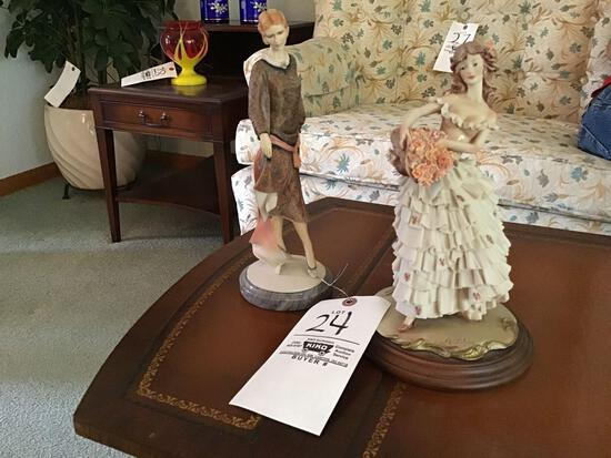 Royal Doulton composite figurine and A. Beleari composite figurine