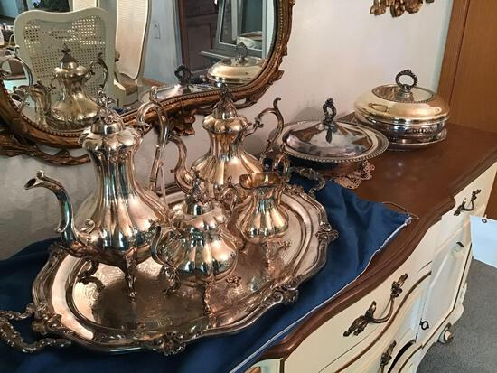 Reed and Barton silver-plated tea set