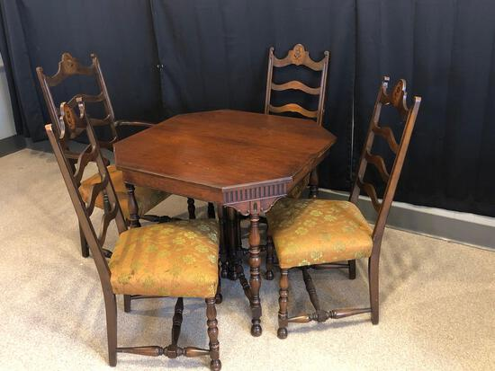 Depression Era Table with 4 Chairs