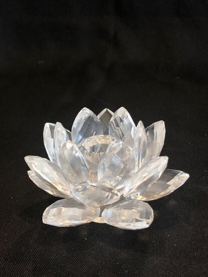 Swarovski Silver Crystal Flower