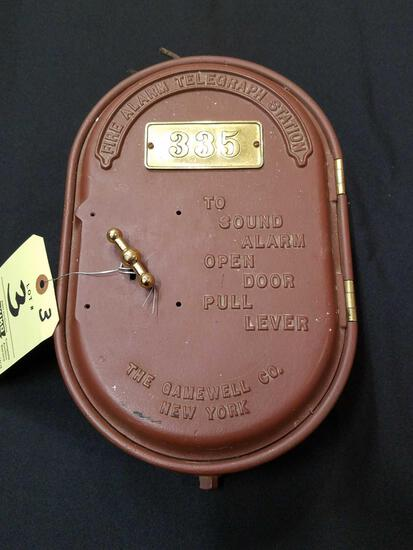 Gamewell fire alarm, telegraph station - cast iron and brass