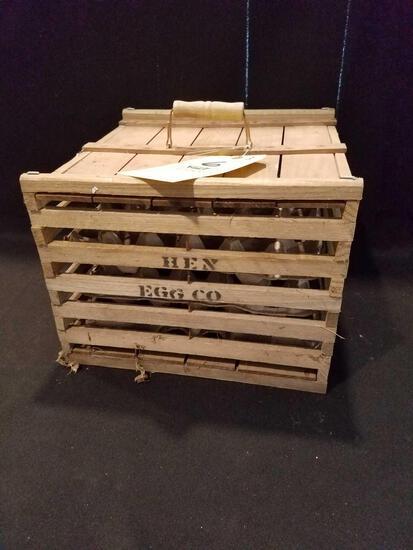 Hen Egg Co., wood egg crate