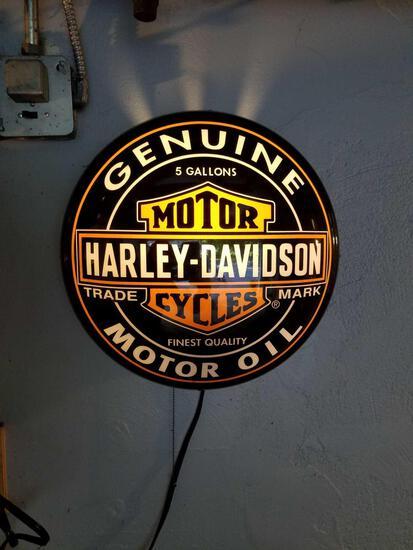 Harley Davidson plastic clock