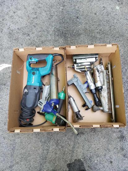 Makita sawzall, air tools, air greaser