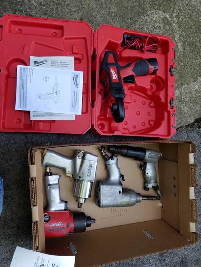 Milwaukee clamp gun 12V, air chisel, air impacts