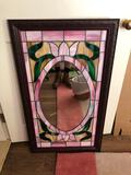 Stained-glass mirror