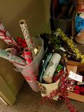 Wreaths, gift bags, wrapping paper