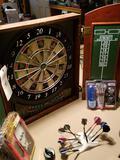 Dart board and darts