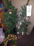 Wreaths, small Christmas trees