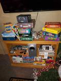 Games, stereo system, magazines (shelf not included)