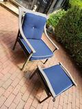 Patio furniture (1 bench, 2 chairs, 2 foot rests)