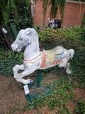 Cast aluminum carousel horse