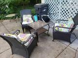 Patio table and 3 patio chairs
