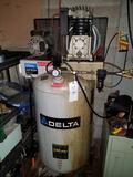 Delta 240V, 175psi, 6.5-gal. air compressor w/ hose reel