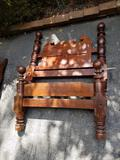 Cannon ball style single bed, (with rails)