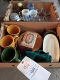 Plates, mugs, glasses, steins