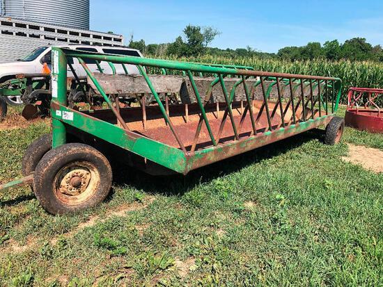 S.I. dolly wheel feeder wagon 18'