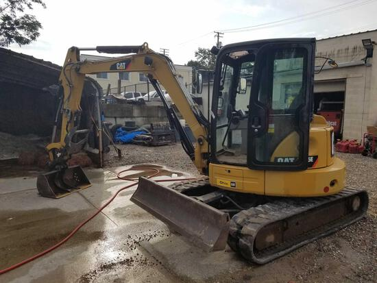 2016 Cat 305.5E mini excavator, 38 inch bucket, diesel, ac, with extra 21 inch bucket, 1,420 hours