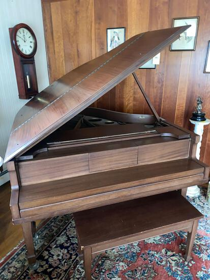 George Steck grand piano w/ bench, style HF #65768