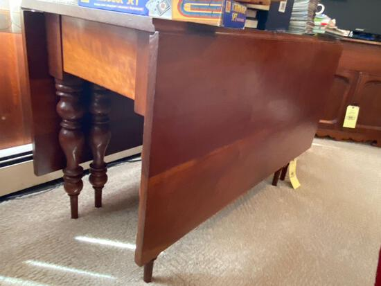 Old drop leaf cherry gate leg table