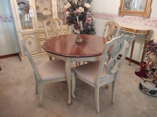 Consolidate Furniture Co. French Provincial Table w/ 4 Chairs