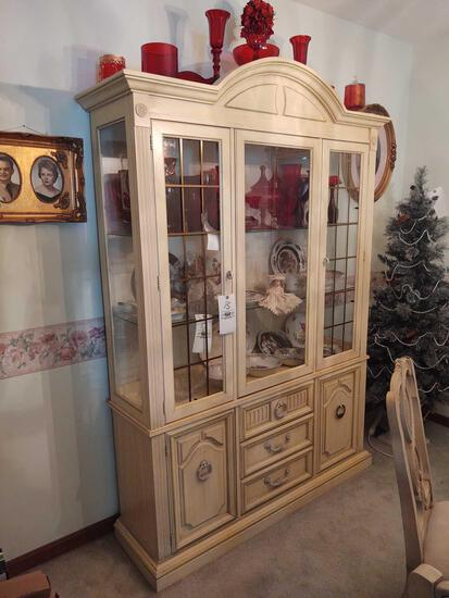 One Piece French Provincial Style China Cabinet