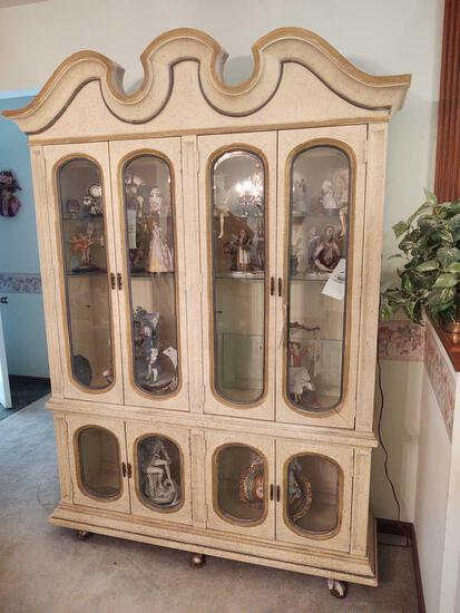 2pc Lighted China Cabinet