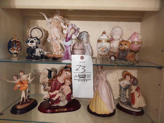 Assorted Figurines, Some Composite