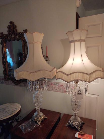 2 Prism Drop Lamps