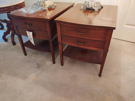 2 Two Drawer End Stands