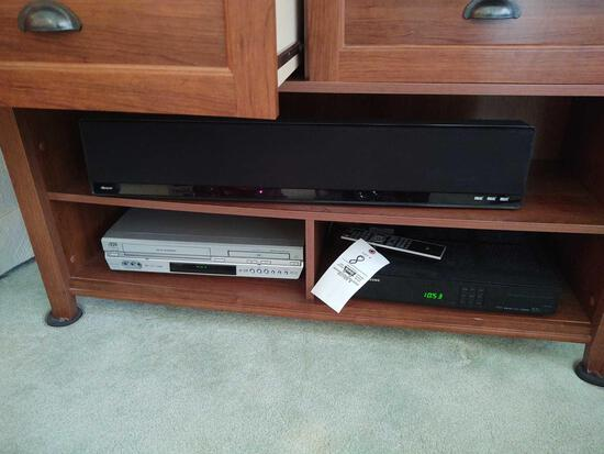 Contents of Sofa Stand inc. Samsung DvR, VHS, DvD Player & DVDs